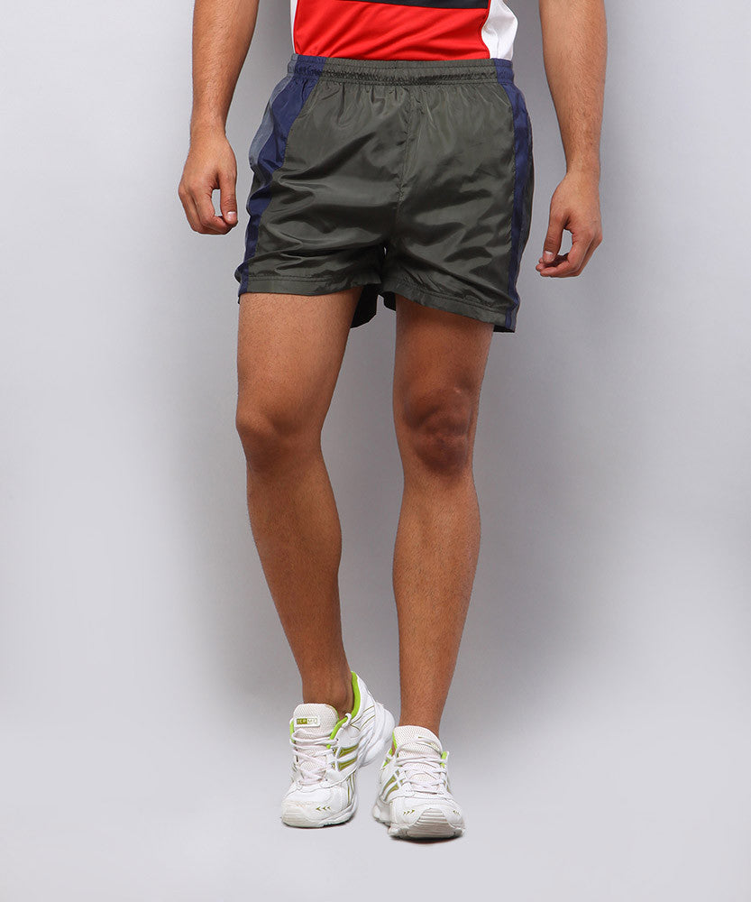 Yepme Mason Sports Shorts - Green & Grey