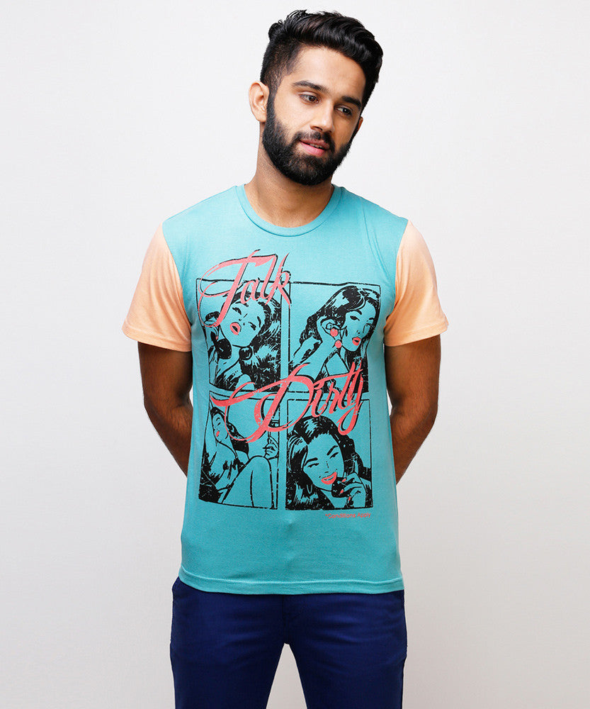Yepme Talk Dirty Tee - Blue
