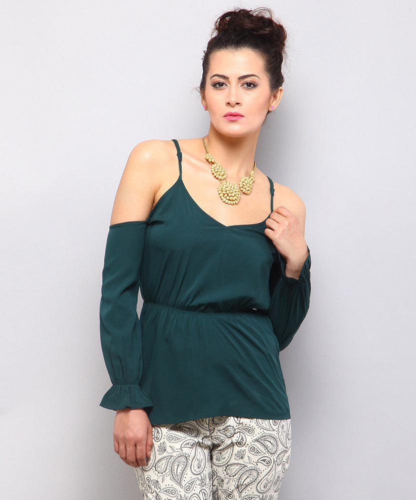 Yepme Keeya Cut-out Top - Green