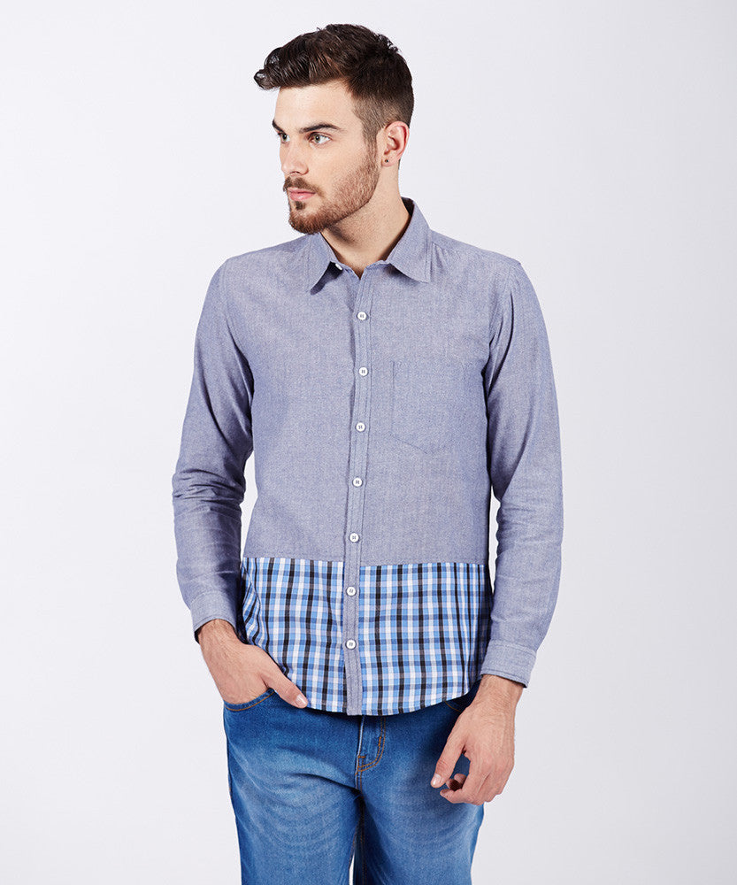Yepme Albern Solid Shirt - Blue