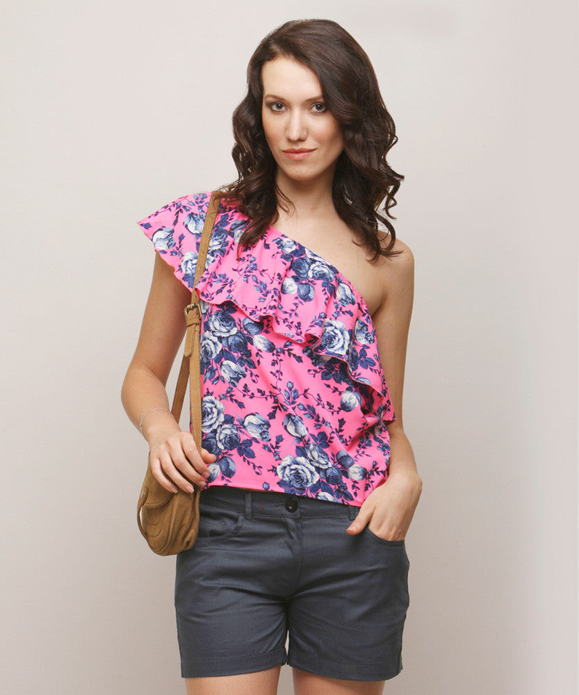 Yepme Annette One Shoulder Top - Pink