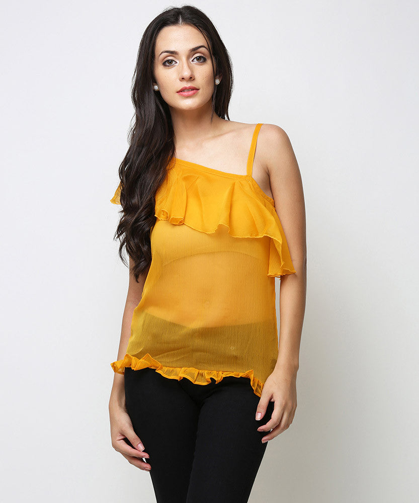 Yepme Leeza One Shoulder Top - Yellow