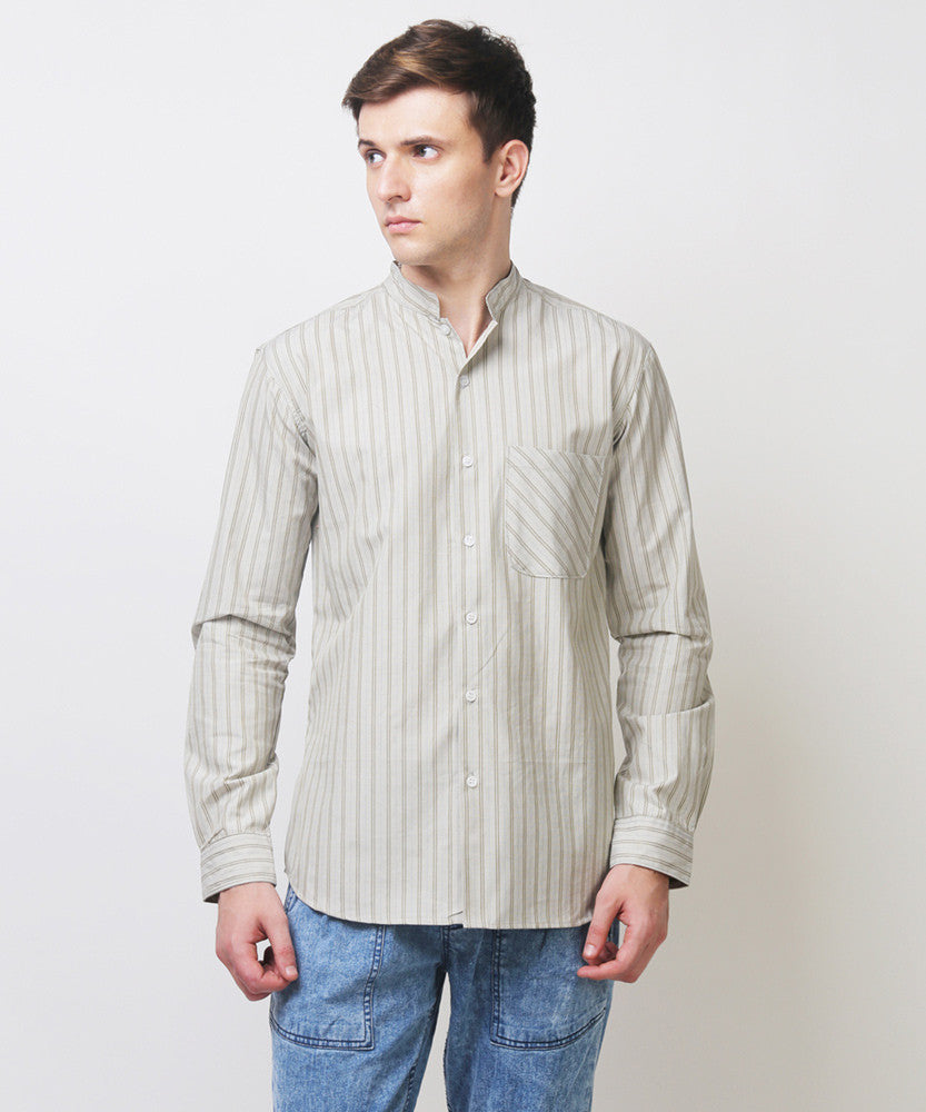 Yepme Barrick Stripes Shirt - Ecru