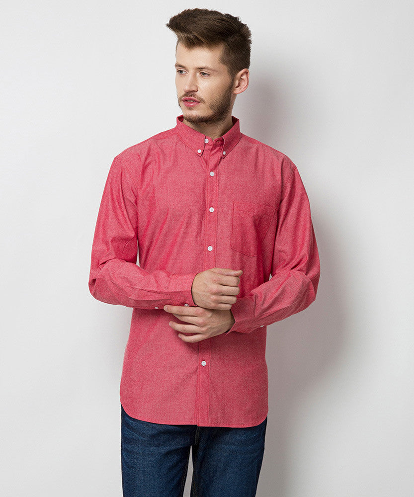 Yepme Hagen Solid Shirt - Red