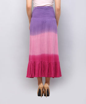 Yepme Reese Ombre Skirt - Purple & Pink