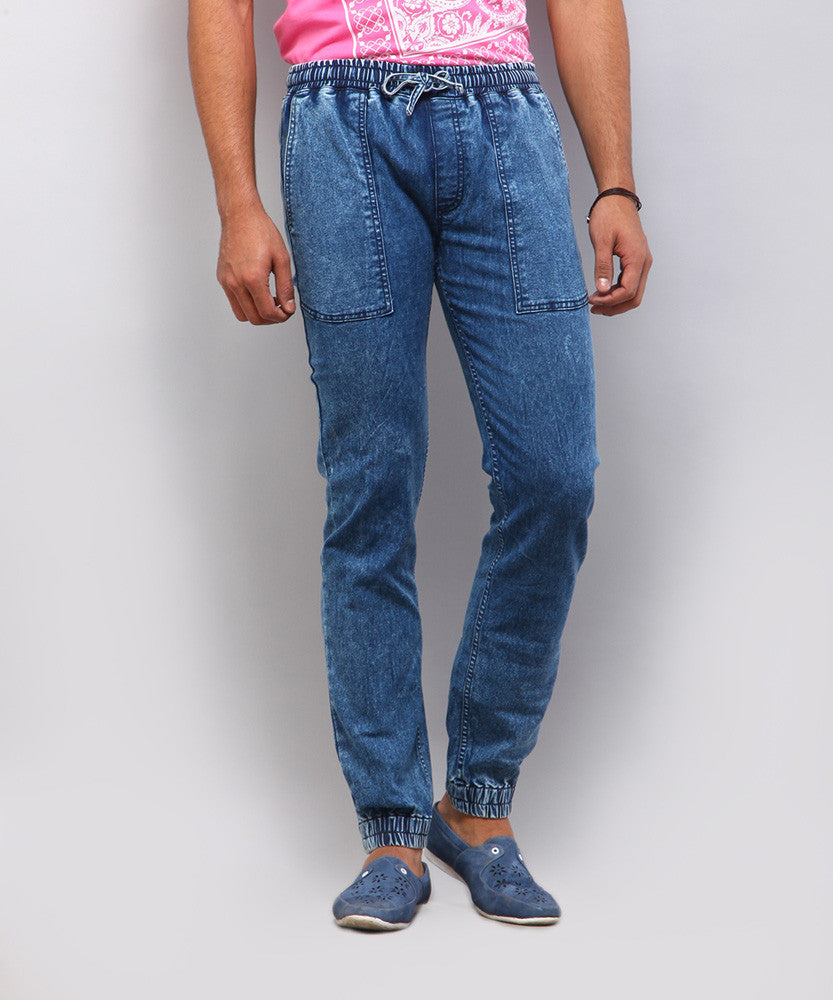 Yepme Everett Denim Joggers - Dark Wash