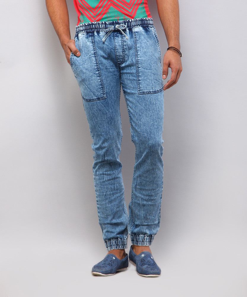 Yepme Everett Denim Joggers - Medium Wash