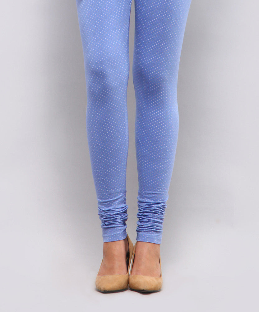 Yepme Alexis Polka Dot Print Leggings - Blue