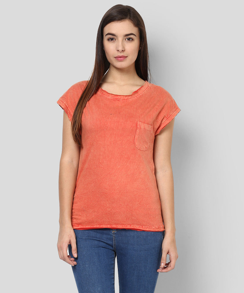 Yepme Clarisa Premium Acid Wash Top - Peach