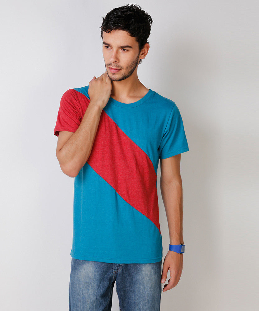 Yepme Stine Premium Tee - Blue & Red