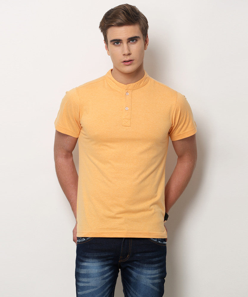 Yepme Jerry Premium Henley Tee - Orange