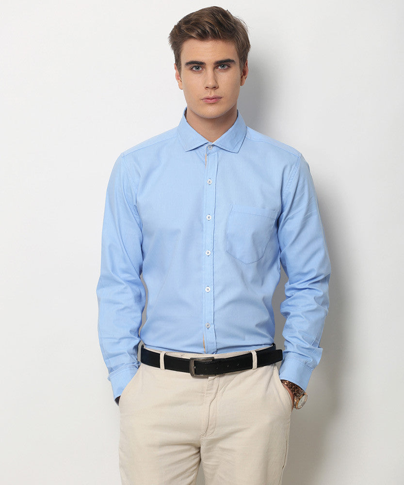 Yepme Kari Premium Formal Shirt - Blue