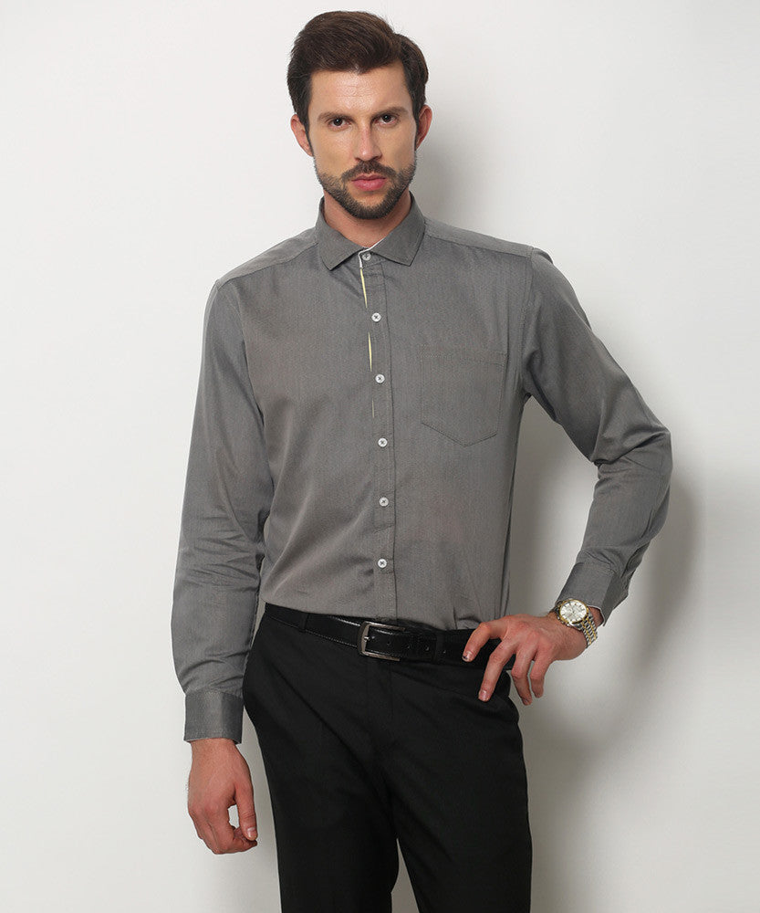 Yepme Kari Premium Formal Shirt - Grey