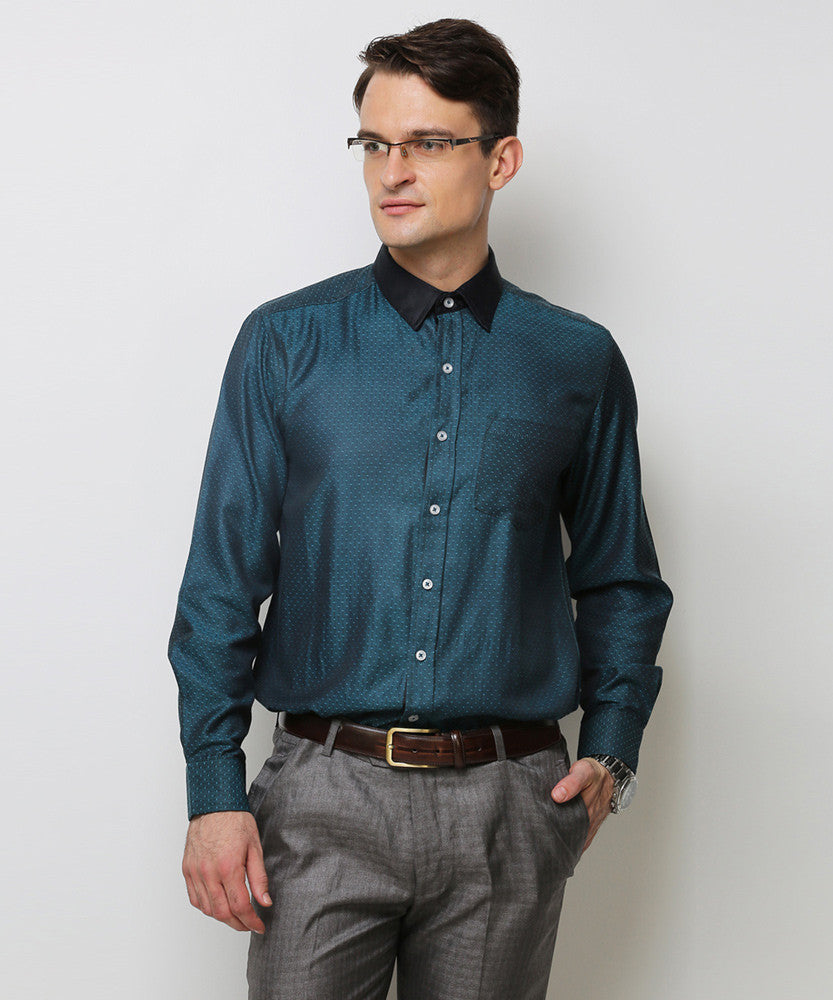 Yepme Hanfred Premium Formal Shirt - Green