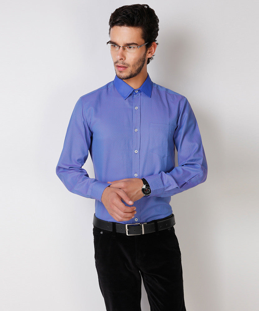 Yepme Hanfred Premium Formal Shirt - Blue