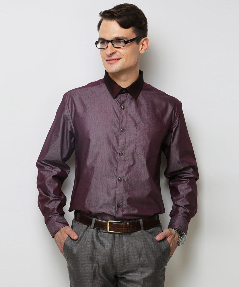 Yepme Schaffer Premium Formal Shirt - Wine