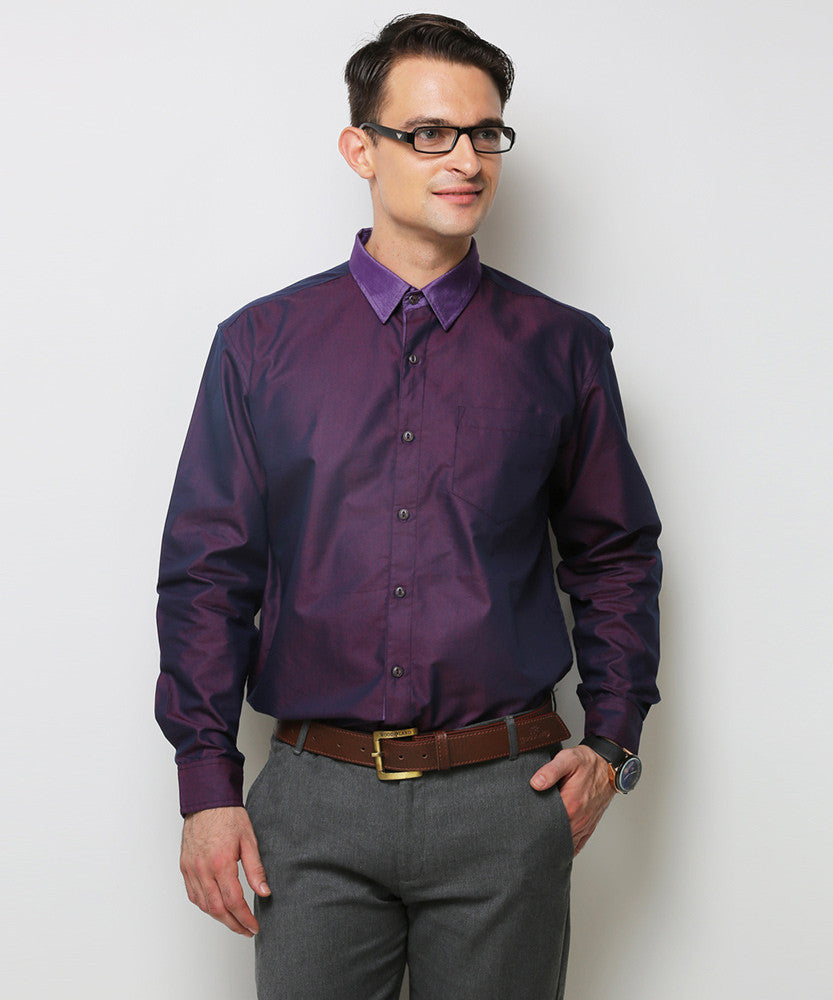 Yepme Schaffer Premium Formal Shirt - Purple