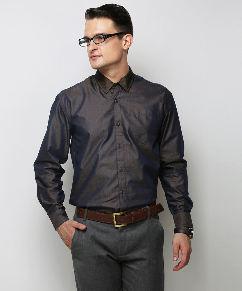 Yepme Schaffer Premium Formal Shirt - Blue