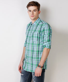 Yepme Wilmar Premium Formal Shirt - Blue & Green