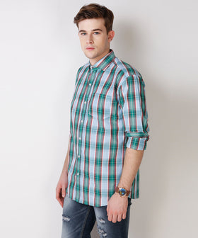 Yepme Wilmar Premium Formal Shirt - Green & Blue