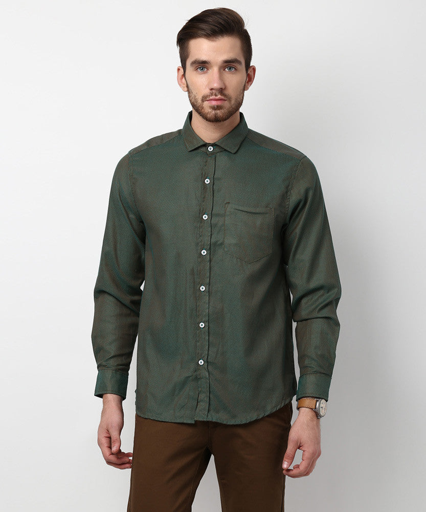 Yepme Hamlett Premium Formal Shirt - Green