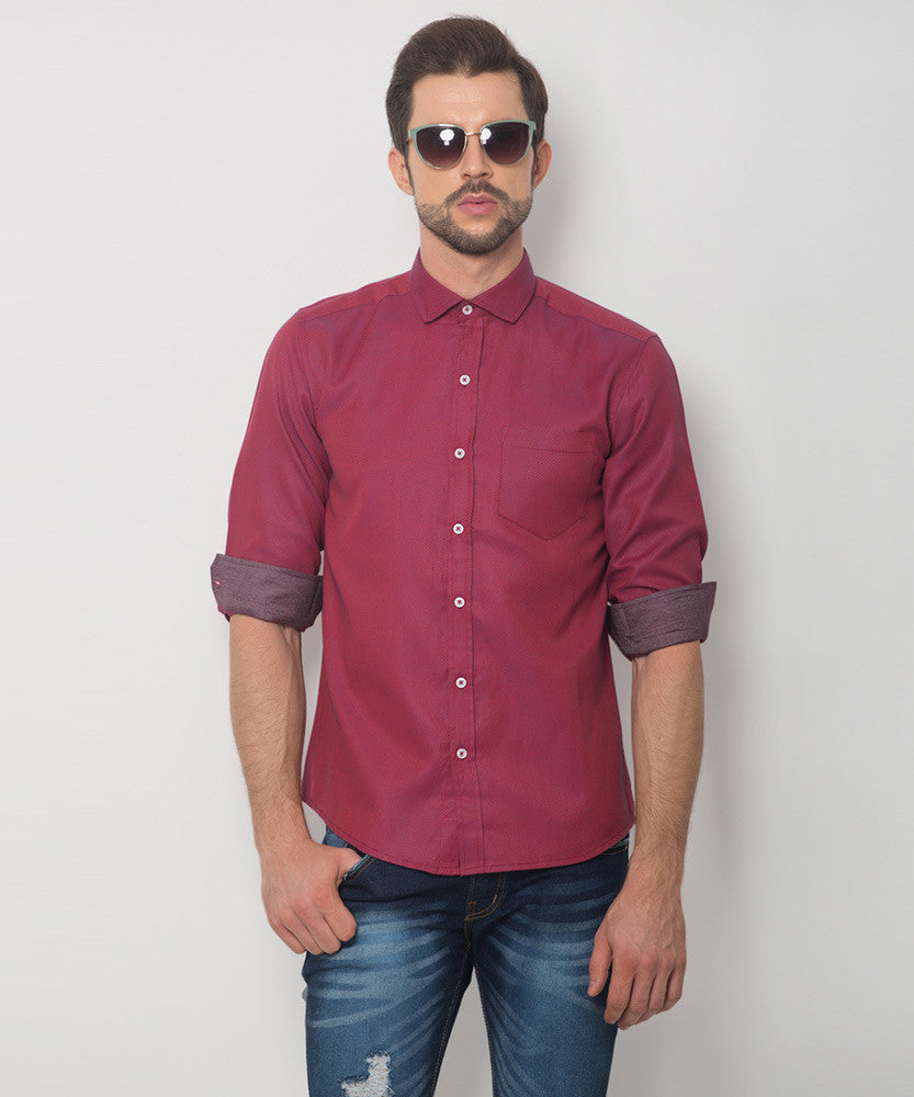 Yepme Hamlett Premium Formal Shirt - Wine