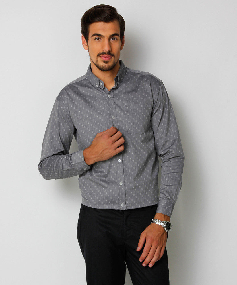 Yepme Freddo Premium Formal Shirt - Grey