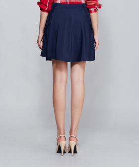 Yepme Lena Suspender Skirt - Blue