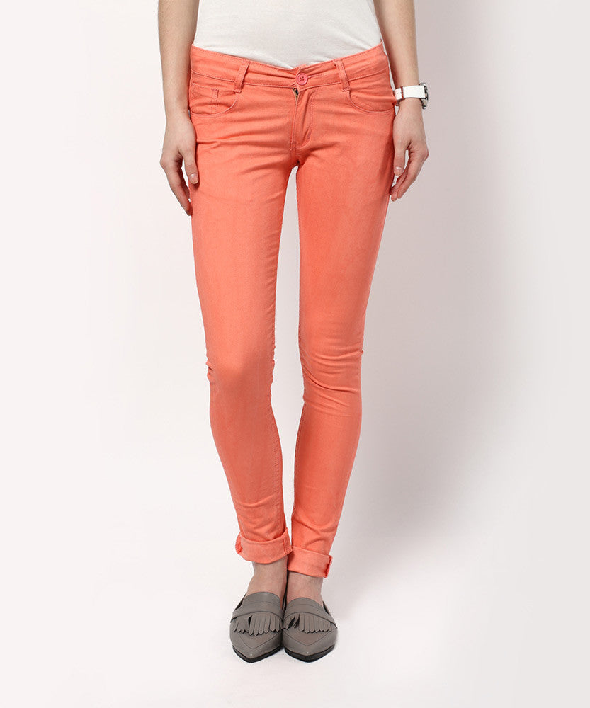 Yepme Maitee Colored Pants - Coral Red