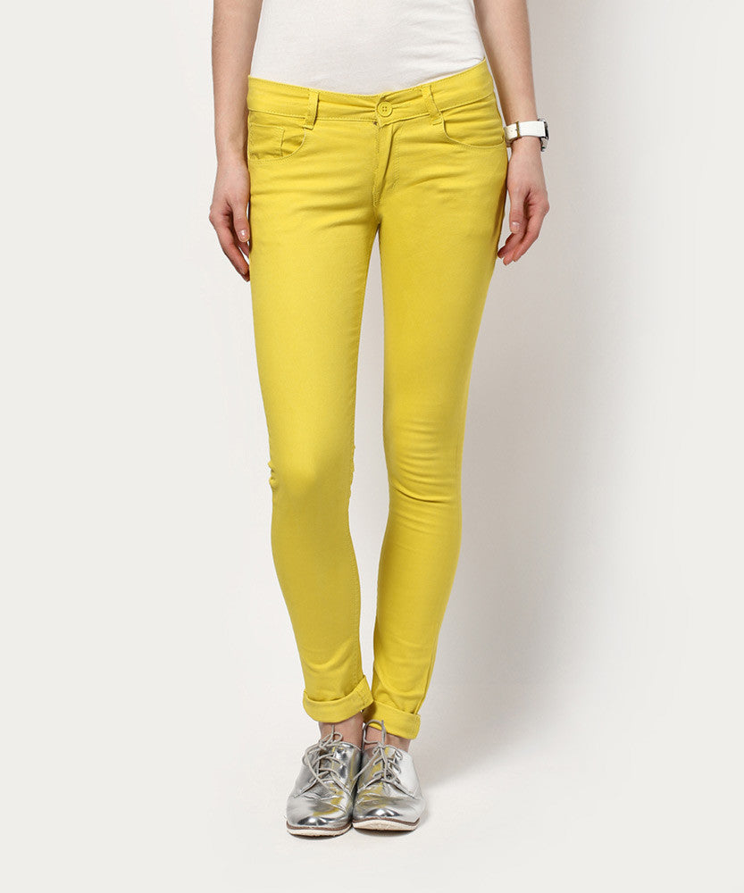 Yepme Maitee Colored Pants - Yellow