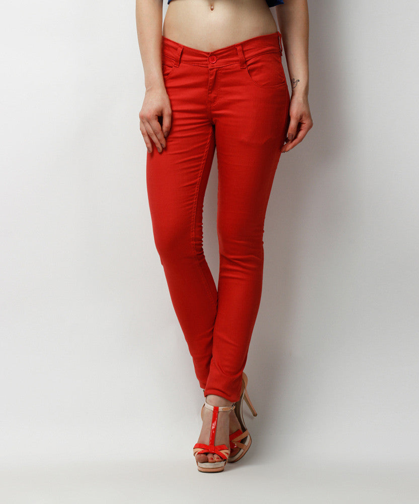 Yepme Clara Colored Pants - Red