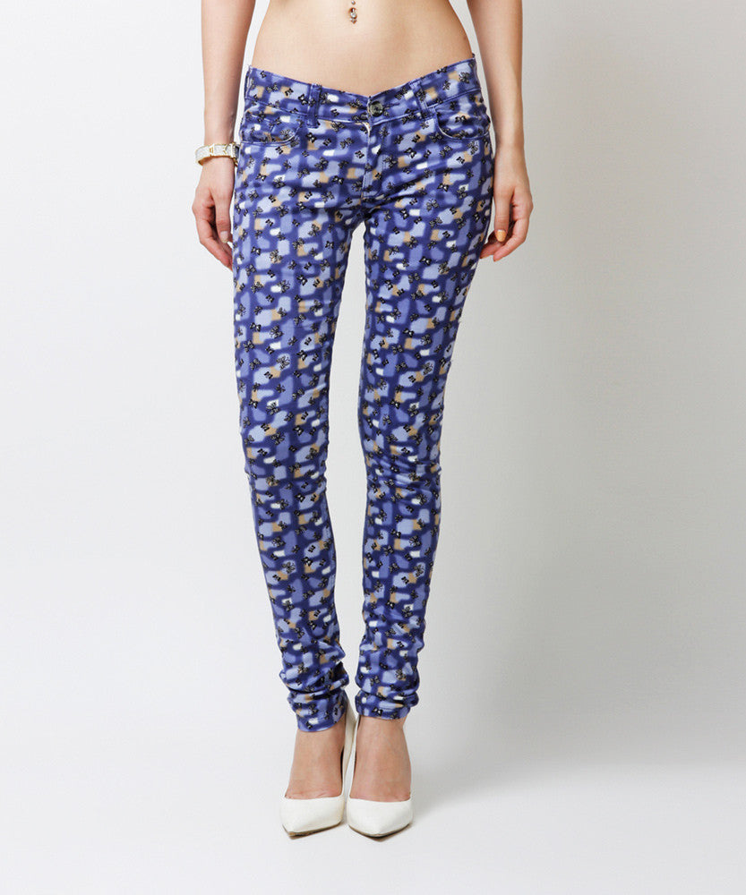 Yepme Estella Printed Pants - Blue