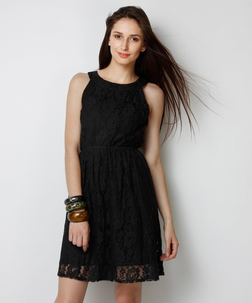 Yepme Eliza Lace Dress - Black