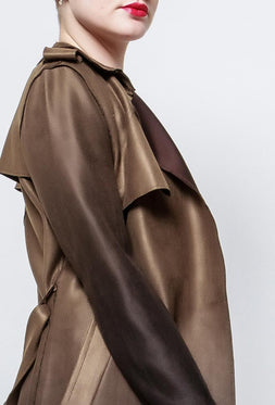 Ombre trench-coat