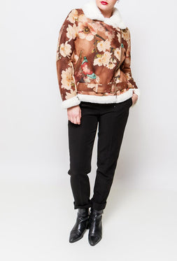 Printed Aviator Jacket