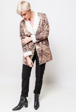 Printed Shearling jacket
