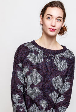 Shiny Pattern Sweater