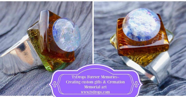Custom Memorial rings with ash (cremation Jewelry)