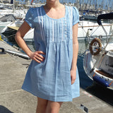 Linen Tunic Dress Light Blue Vestales