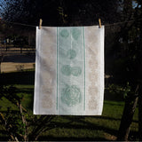 Linen Hand Towel Vegetables Collection Cabbage