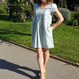Linen Tunic Dress Pearl Vestales