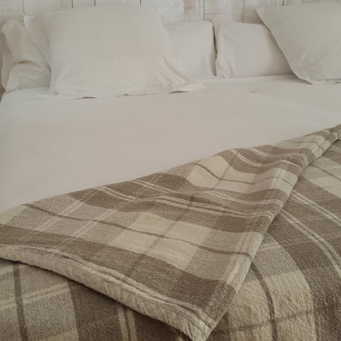 Linen Plaid Blanket Edelino