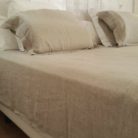 Stonewashed Flat Linen Bed Sheet Edelino