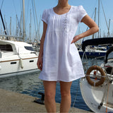 White Linen Tunic Dress Vestales