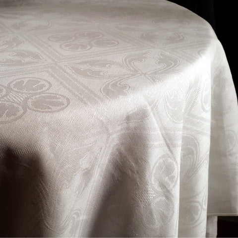Elegant White Linen Tablecloth