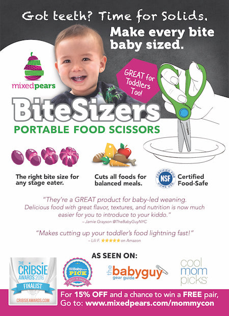 BiteSizers Portable Food Scissors MommyCon Flyer