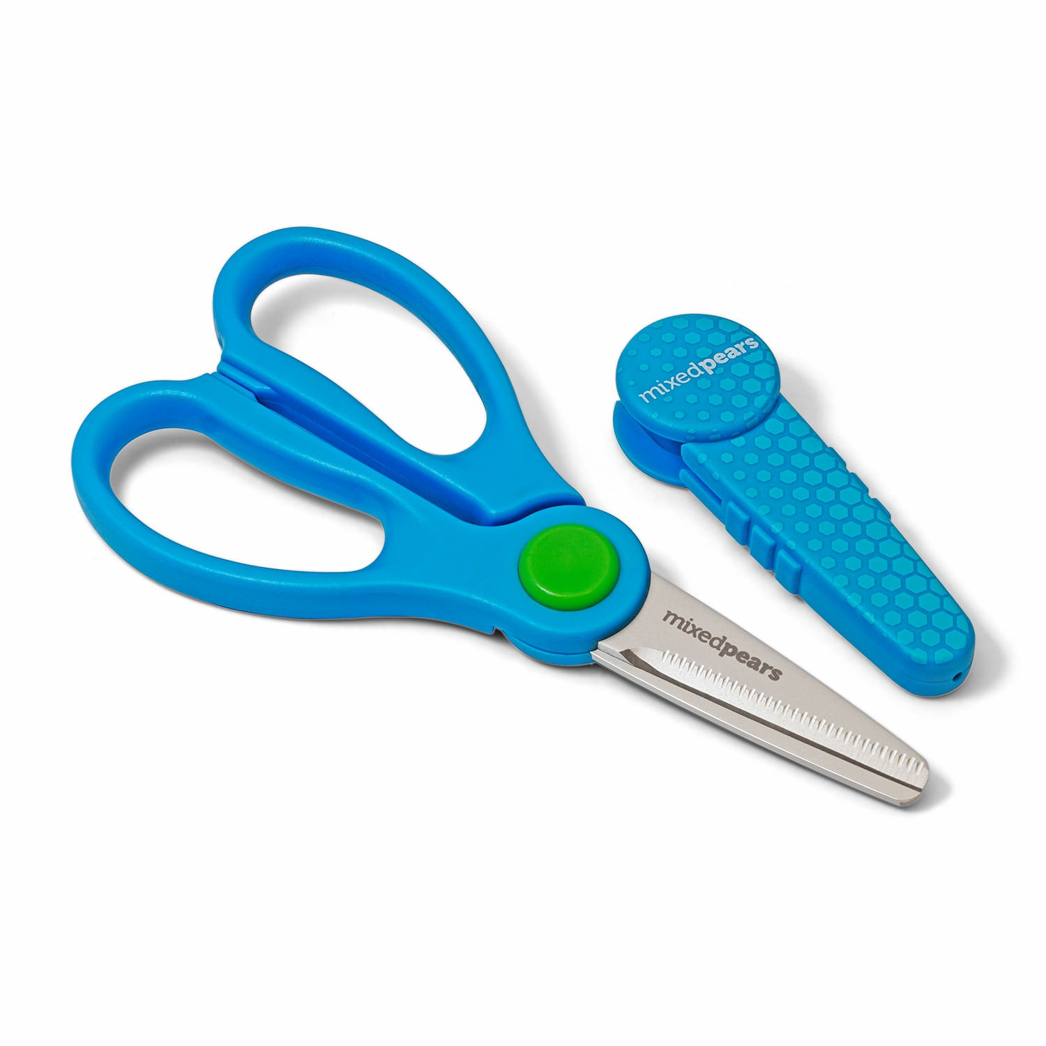 BiteSizers Portable Food Scissors - Blue Hex