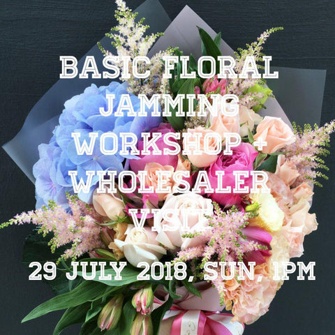 Basic bouquet/vase workshop + wholesaler visit