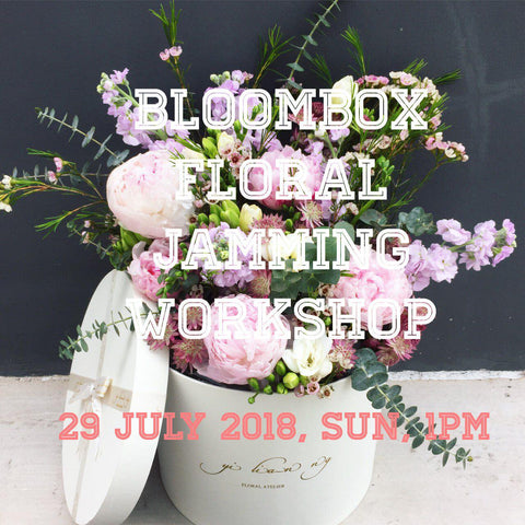 Bloom Box floral jamming workshop