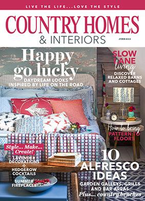 Laura Sowerby 6 page article in June 2018 issue of Country Homes and Interiors Magazine